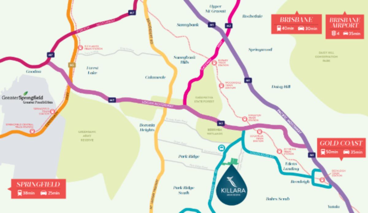 Killara Master Planned Community Map